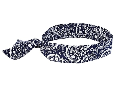 Ergodyne® Chill-Its® 6700 Evaporative Cooling Bandana, Navy Western