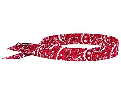 Ergodyne® Chill-Its® 6705 Evaporative Cooling Bandana, Red Western