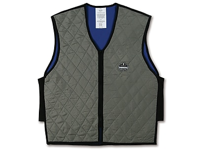 Ergodyne® Chill-Its® 6665 Evaporative Cooling Vest, Gray, 3XL