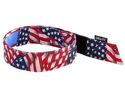 Ergodyne® Chill-Its® 6705 Evaporative Bandana With Cooling Towel, Stars and Stripes