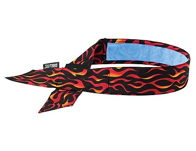 Ergodyne® Chill-Its® 6705 Evaporative Bandana With Cooling Towel, Flames