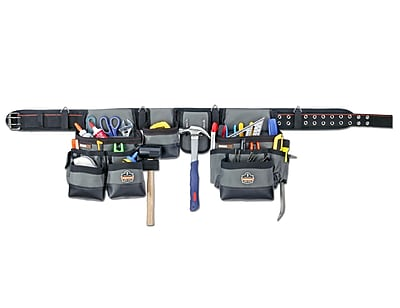 Ergodyne® Arsenal® 34-Pocket Synthetic Tool Rig, Gray, XL