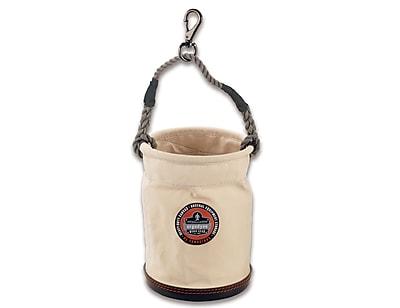 Ergodyne® Arsenal® Plastic Bottom Bucket With Swivel Handle, White, Small