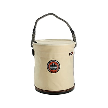 Ergodyne® Arsenal® Plastic Bottom Bucket With Top, White, Large