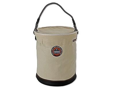 Ergodyne® Arsenal® Leather Bottom Bucket With Top, White, XL