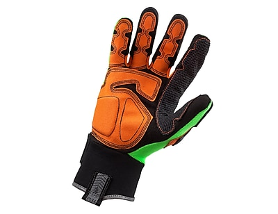 Ergodyne® ProFlex® 925F PVC Dorsal Impact-Reducing Gloves, Lime, 2XL