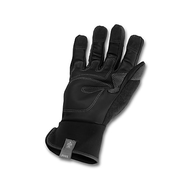 Ergodyne® ProFlex® Leather Trades Gloves, Black, Large