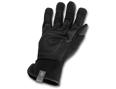 Ergodyne® ProFlex® Leather Trades Gloves, Black, Medium