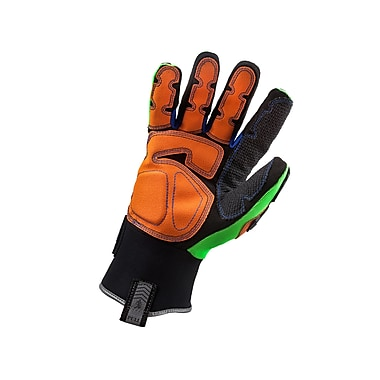 Ergodyne® ProFlex® 925F PVC Thermal Waterproof Dorsal Impact-Reducing Gloves, Lime, Large