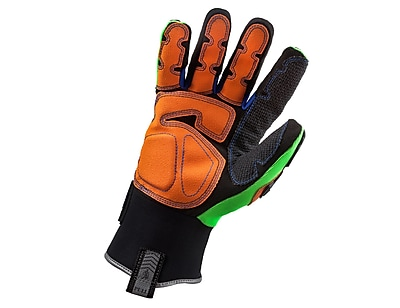 Ergodyne® ProFlex® 925F PVC Thermal Waterproof Dorsal Impact-Reducing Gloves, Lime, Small
