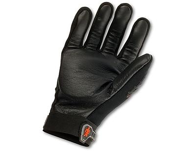 Ergodyne® ProFlex® Pigskin Leather Anti-Vibration Gloves W/Dorsal Protection, Black, Small
