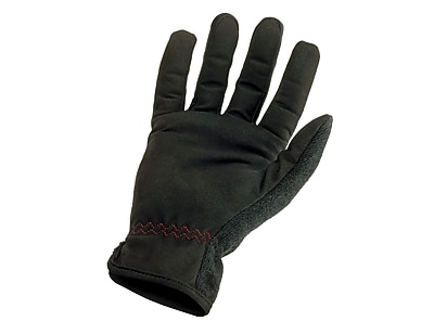 Ergodyne® ProFlex® 815 Synthetic Leather Utility EZ Gloves, Black, Small
