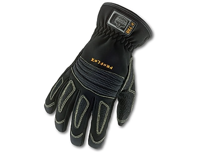 Ergodyne® ProFlex® 730 Fire & Rescue Performance Gloves, Black, Medium, 1 Pair