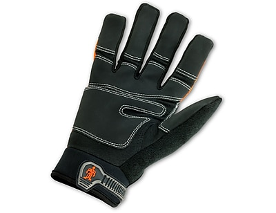 Ergodyne® ProFlex® 876 Synthetic Leather Hi-Visibility Thermal Waterproof Gloves, Orange, Large