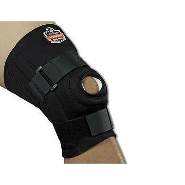 Ergodyne® ProFlex® Black Knee Sleeves With Open Patella/Spiral Stays