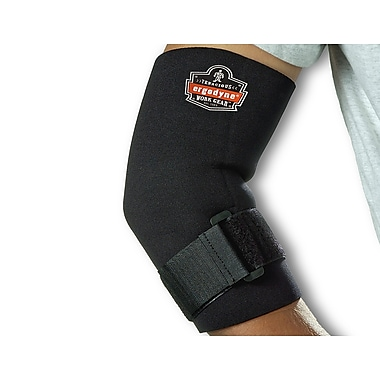 Ergodyne® ProFlex® Neoprene Elbow Sleeve With Strap, Black, Large