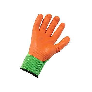 Ergodyne® ProFlex® 920 Nitrile-Dipped Dorsal Impact-Reducing Gloves, Lime, Medium