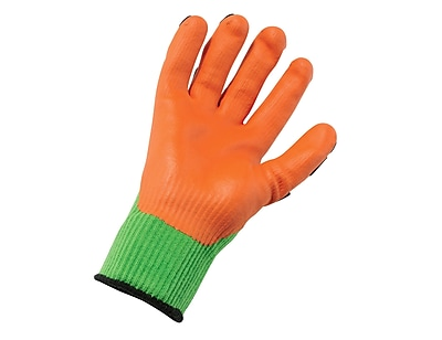 Ergodyne® ProFlex® 920 Nitrile-Dipped Dorsal Impact-Reducing Gloves, Lime, XL