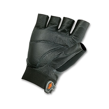 Ergodyne® ProFlex® 900 Pigskin Leather/Spandex Impact Gloves, Black, Medium