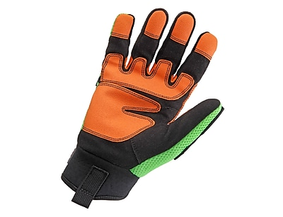 Ergodyne® ProFlex® 924 Light Dorsal Impact-Reducing PVC Gloves, Lime, XS
