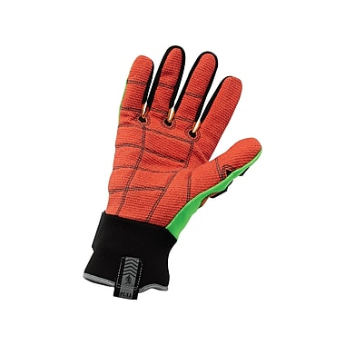 Ergodyne® ProFlex® Kevlar® Cut Puncture and Dorsal Impact-Reducing Gloves, Lime/Orange, Small