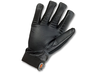 Ergodyne® ProFlex® Pigskin Leather Certified Anti-Vibration Gloves, Black, Medium