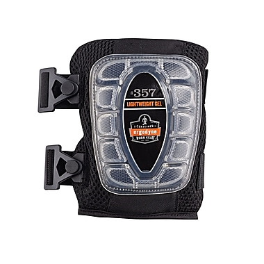 Ergodyne® ProFlex® Lightweight Gel Knee Pad With Short Cap, Black