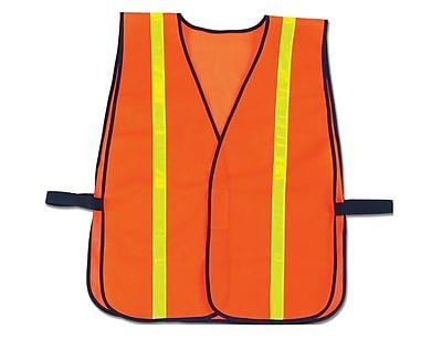 Ergodyne GloWear® Non-Certified Vest, High-Gloss, Orange, 24/Ct.