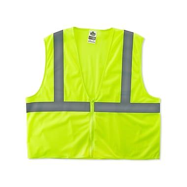 Ergodyne® GloWear® 8205Z Class 2 Hi-Visibility Super Economy Vest, Lime, 2XL/3XL