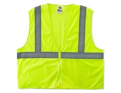 Ergodyne® GloWear® 8205Z Class 2 Hi-Visibility Super Economy Vest, Lime, Large/XL