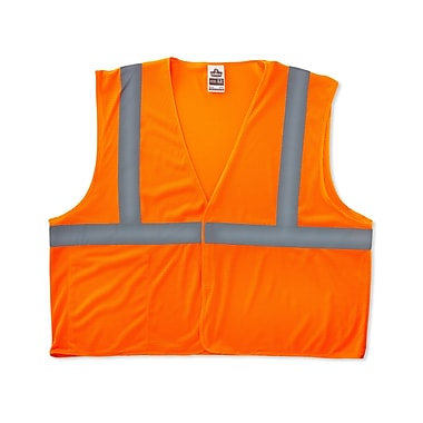 Ergodyne® GloWear® 8210HL Class 2 Hi-Visibility Economy Vest, Orange, 4XL/5XL