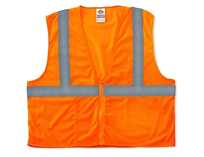 Ergodyne GloWear® 8210Z Class 2 Economy Vest, Small/Medium, Orange