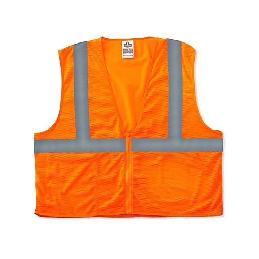 Ergodyne GloWear® 8210Z Class 2 Economy Vest, Small/Medium, Orange
