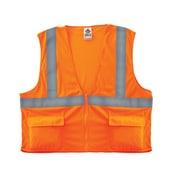 Ergodyne® GloWear® 8220Z Class 2 Hi-Visibility Standard Vest, Orange, Large/XL