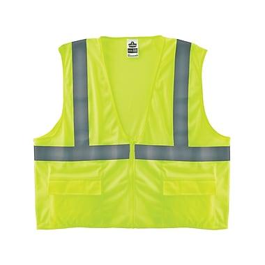 Ergodyne® GloWear® 8220Z Class 2 Hi-Visibility Standard Vest, Lime, 4XL/5XL