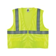 Ergodyne® GloWear® 8220Z Class 2 Hi-Visibility Standard Vest, Lime, Small/Medium