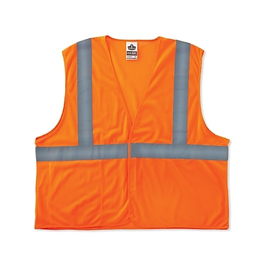 Ergodyne® GloWear® 8220HL Class 2 Hi-Visibility Standard Vest, Orange, Large/XL