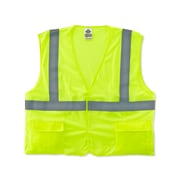 Ergodyne® GloWear® 8220HL Class 2 Hi-Visibility Standard Vest, Lime, Small/Medium