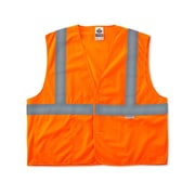 Ergodyne® GloWear® 8225HL Class 2 Hi-Visibility Standard Vest, Orange, Large/XL
