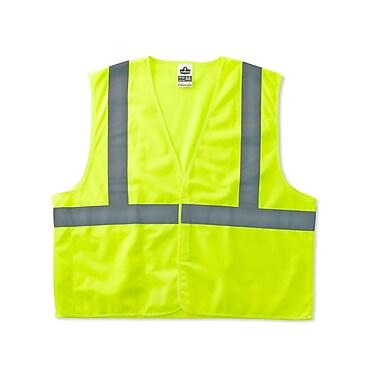 Ergodyne® GloWear® 8225HL Class 2 Hi-Visibility Standard Vest, Lime, Large/XL