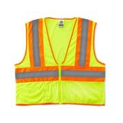 Ergodyne® GloWear® 8229Z Class 2 Hi-Visibility Economy Two-Tone Vest, Lime, Large/XL