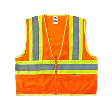 Ergodyne® GloWear® 8230Z Orange Class 2 Hi-Visibility Two-Tone Vests