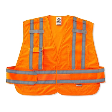 Ergodyne® GloWear® 8244 Expandable Public Safety Vest, Orange, XL/2XL
