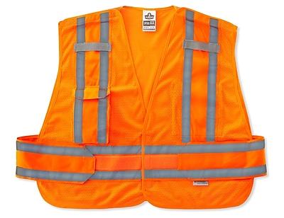 Ergodyne® GloWear® 8244 Expandable Public Safety Vest, Orange, Medium/Large
