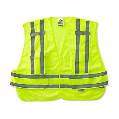 Ergodyne® GloWear® 8244 Expandable Public Safety Vest, Lime, Medium/Large