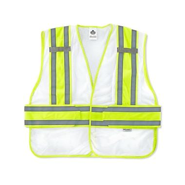 Ergodyne® GloWear® 8240HL White Class 2 Hi-Visibility Two-Tone Expandable Vests