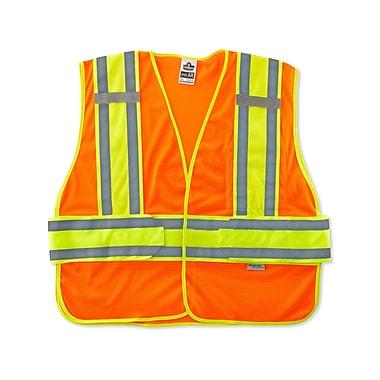 Ergodyne® GloWear® 8240HL Class 2 Hi-Visibility Two-Tone Expandable Vest, Orange, Medium/Large