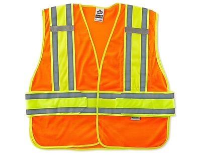 Ergodyne® GloWear® 8240HL Class 2 Hi-Visibility Two-Tone Expandable Vest, Orange, XL/2XL