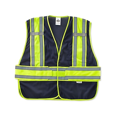 Ergodyne® GloWear® 8240HL Class 2 Hi-Visibility Two-Tone Expandable Vest, Navy, Medium/Large