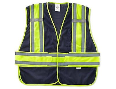 Ergodyne® GloWear® 8240HL Class 2 Hi-Visibility Two-Tone Expandable Vest, Navy, Medium/Large